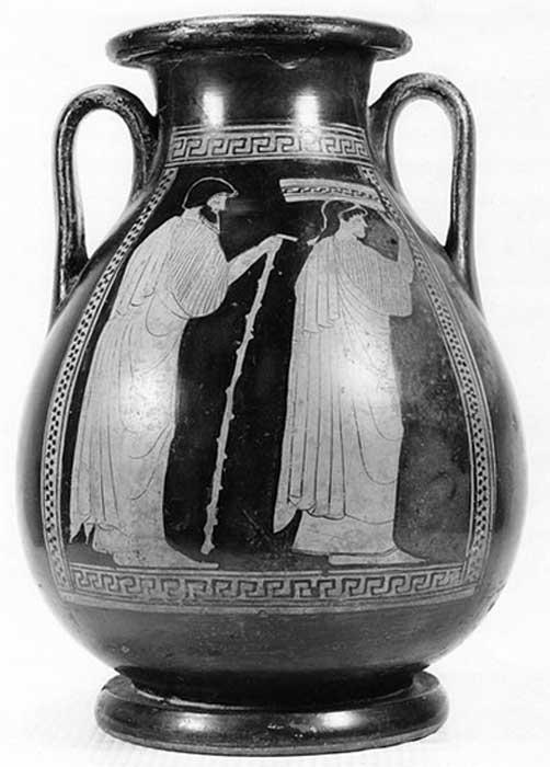 Example of a Greek Attic Red-Figure Pelike (Storage Vessel).