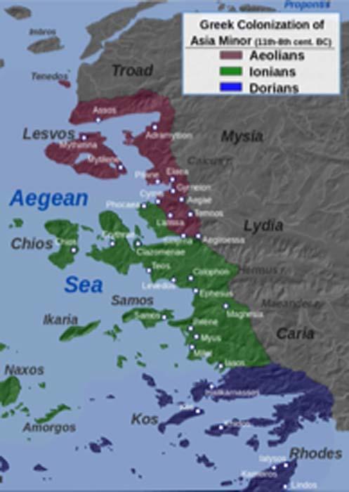 Greek Colonization of western Asia Minor. (Alexikoua / CC BY-SA 3.0)