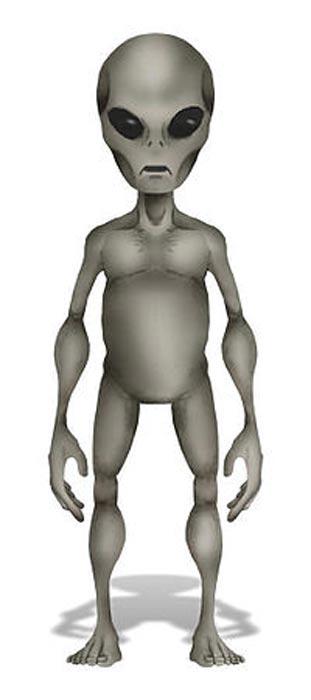 Artistic depiction of a Grey Alien.