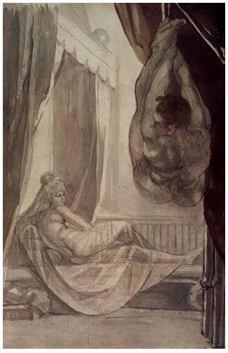 Gunther's wedding night (Johann Heinrich Füssli 1807).