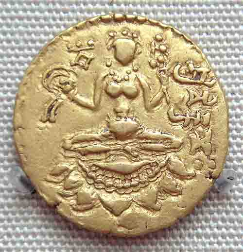 Gupta Empire coin, dating from 380-415 AD, depicting Lakshmi. (Uploadalt / CC BY-SA 3.0)