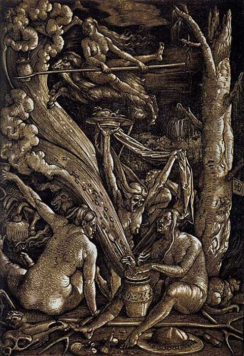 Figure 2. Hans Baldung Grien. Witches Sabbath, 1510. Germanisches Nationalmuseum, Nuremberg.