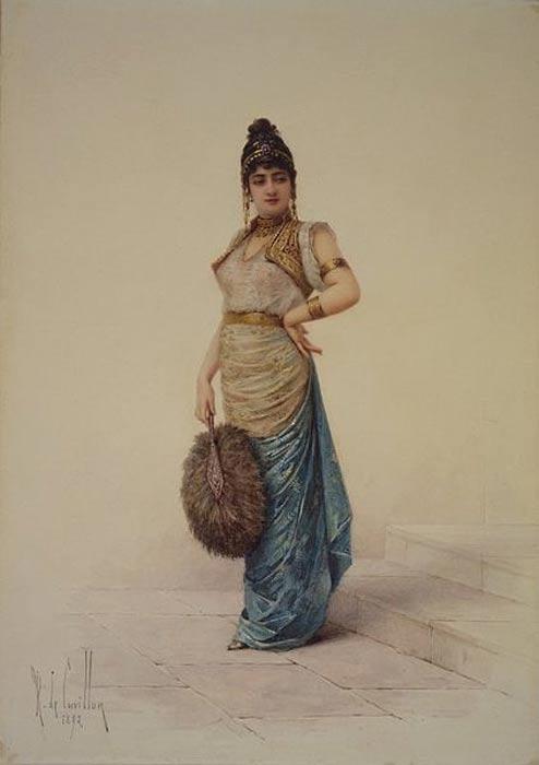 Portrait of Roxelana (Hurrem Sultan) titled 'Rossa Solymannı Vxor.'