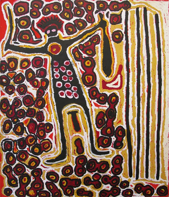 Harry Tjutjuna, 2007, Pitjantjatjara, Wati Nyirunya ('The Man Nyiru'). (Image: © the artist, courtesy Ninuku Art Centre​)