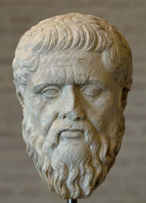 Head of Platon, Roman copy. The original was exhibited at the Academy after the death of the philosopher (348/347 BC). (Public Domain)