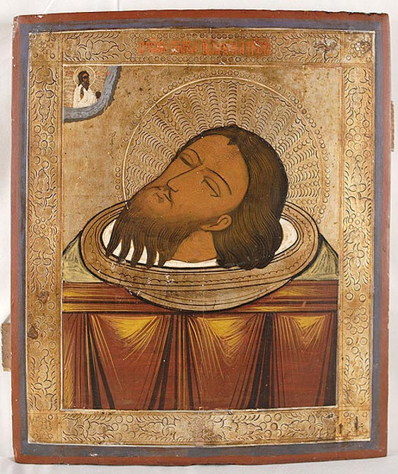 Illustration of the Head of Saint John the Baptist.