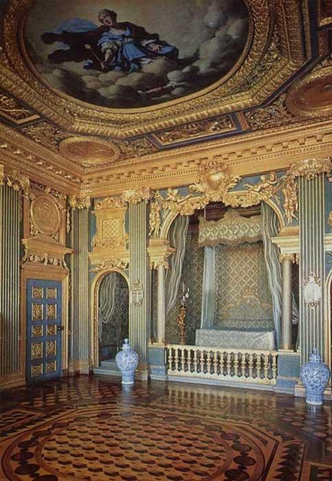 Hedvig Eleonora's bedchamber at Drottningholm Palace.