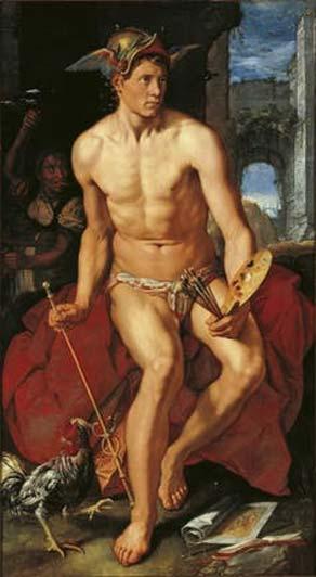 Hendrik Goltzius, Mercury, oil on canvas (1611).