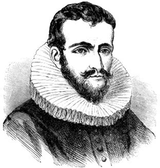 This speculative portrait from Cyclopedia of Universal History is one of several used to represent Henry Hudson.