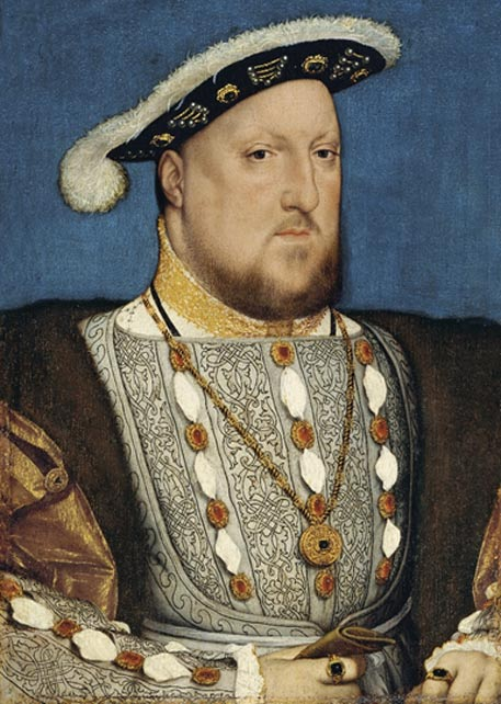 Henry VIII, by Hans Holbein the Younger, around 1537.