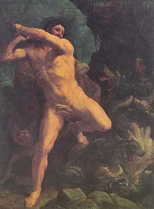 Heracles and the Hydra, Guido Reni, 1620