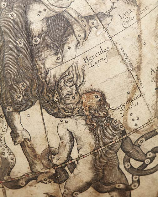 Herkules and Ophiuchus, 1602 by Willem Blaeu. (Erik Lernestål / Public domain)