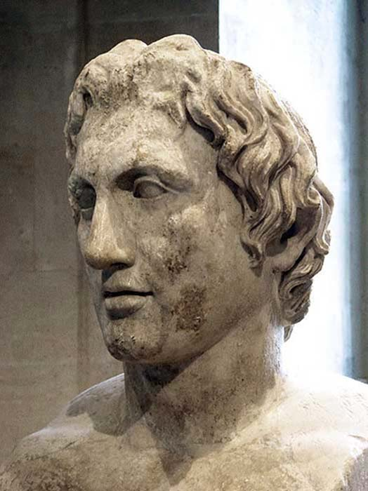 Herma of Alexander (Roman copy of a 330 BC statue by Lysippus).