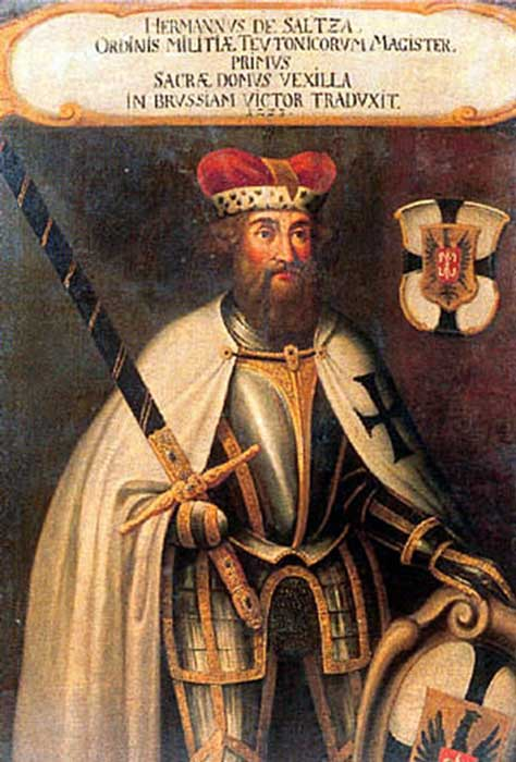 Hermann von Saltza served as the fourth Grand Master of the Teutonic Knights (1209 - 1239) (Public Domain)