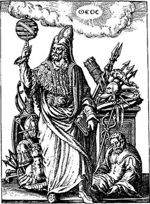 A figure representing Hermes Trismegistus.