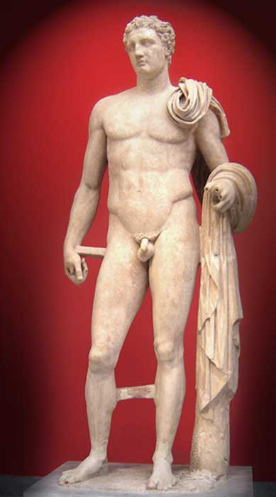 Hermes of Atalante, a Roman marble copy of a lost bronze attributed to Lysippos.