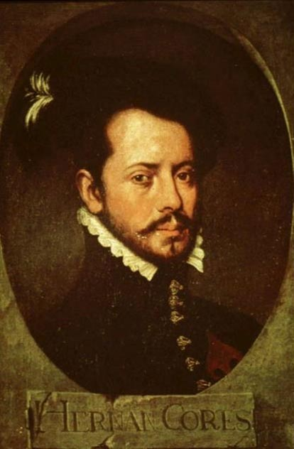 Portrait of Hernán Cortés.
