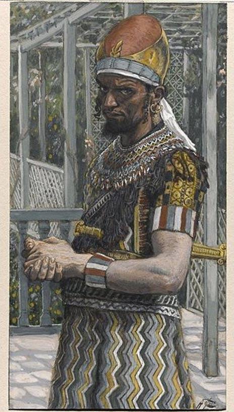 Herod Anitpas. Painting circa 1886.