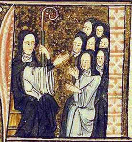 Hildegard von Bingen and her nuns. (Public Domain)