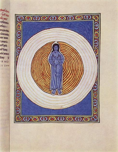 Hildegard of Bingen's manuscript the Scivias is known for its illustrations. (Eloquence / Public Domain)