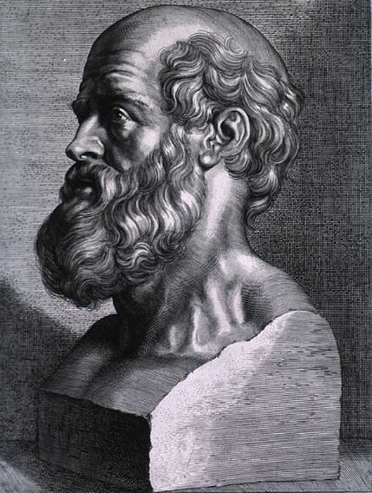 Hippocrates, engraving by Peter Paul Rubens, 1638. Courtesy of the National Library of Medicine.