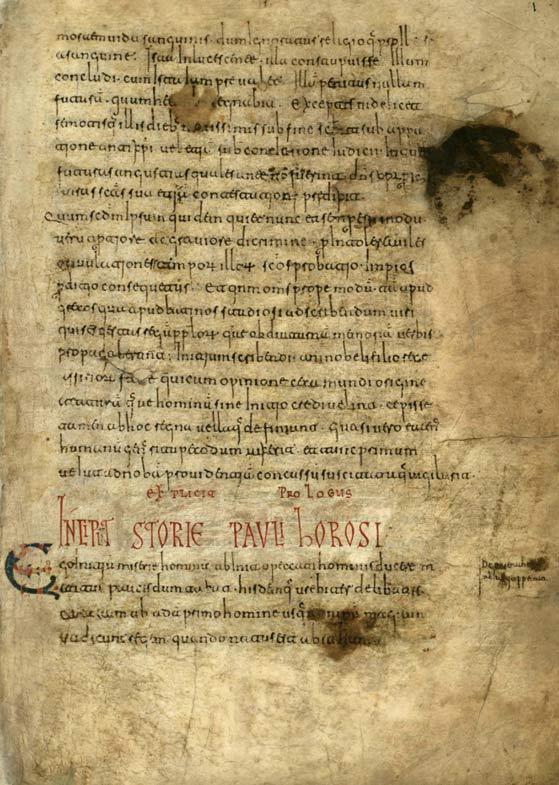 Historiae adversus paganos, Paulo Orosio.