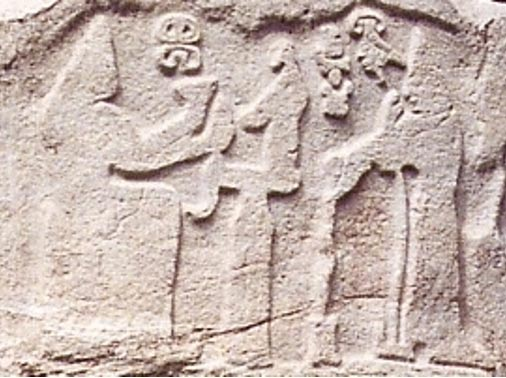 Hittite relief of the influential Queen Puduhep and King Hebat, Kayseri, Turkey