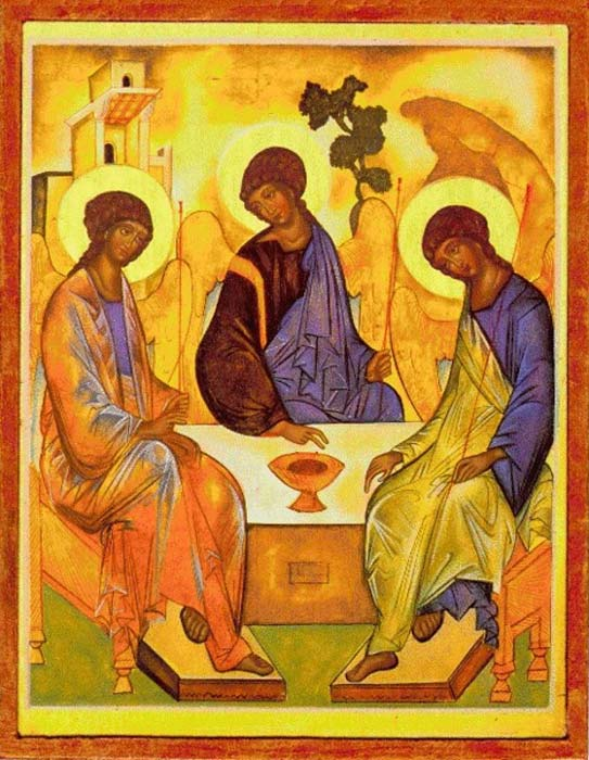 Holy Trinity by Andrei Rublev, a famed Russian artist who worked in the Byzantine style. (The Yorck Project / Public Domain)