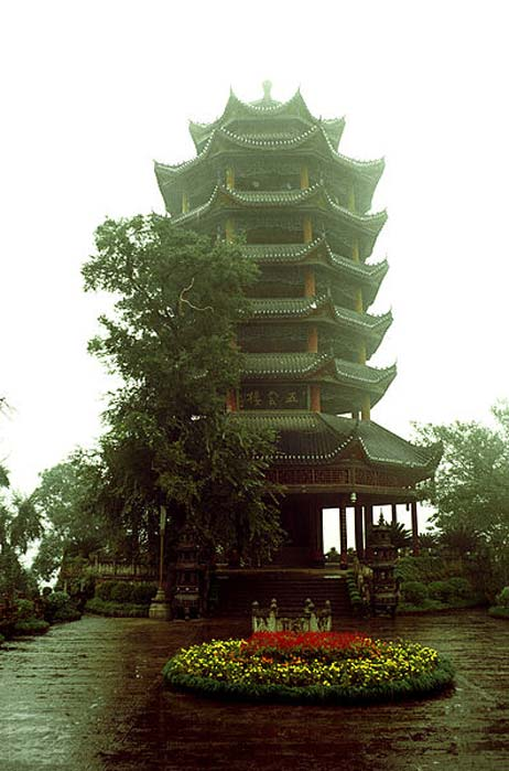 The Home Viewing Pavilion (望乡台), a pavilion that every soul passes by on the journey to the underworld in Fengdu.