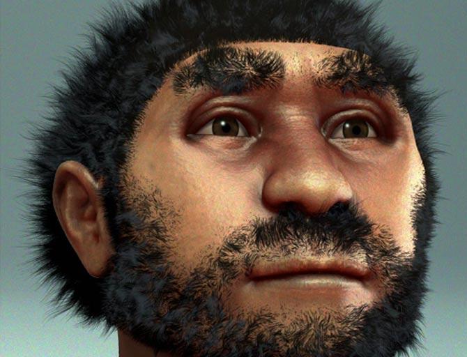 Forensic facial reconstruction of Homo erectus pekinensis, commonly known at Peking Man