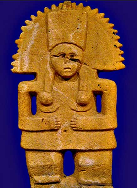 Huasteca culture statue of Tlazolteotl in the Museum of Anthropology, Xalapa, Mexico. (yaxchibonam/CC BY NC SA 2.0)