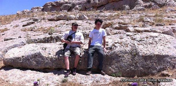 Hugh & Kevin Fisch at 18ft Monolith on west slope of Karahan Tepe