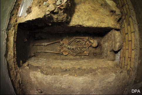 Human remains uncovered during the excavation - Cathedral Germany