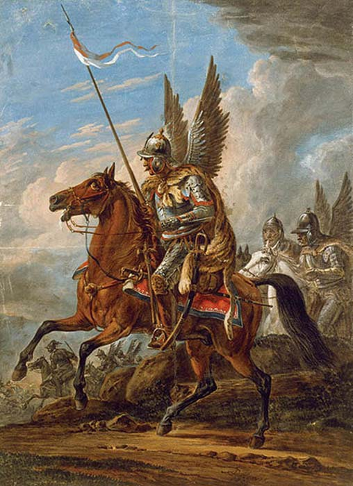 Husaria's Attack – Winged Hussars, painting by Orłowski. (BurgererSF / Public Domain)