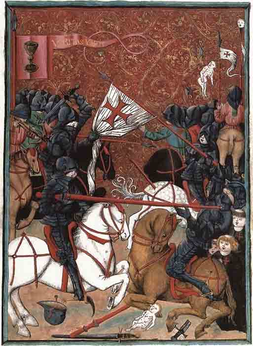The Hussite Wars have gone down in history as a bloody struggle between the Hussites and Catholic crusaders. (Public domain).