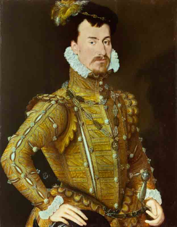 Robert Dudley, Earl of Leicester, and husband of Amy Robsart Dudley, who died under mysterious circumstances. (Attributed to Steven van der Meulen / Public domain)