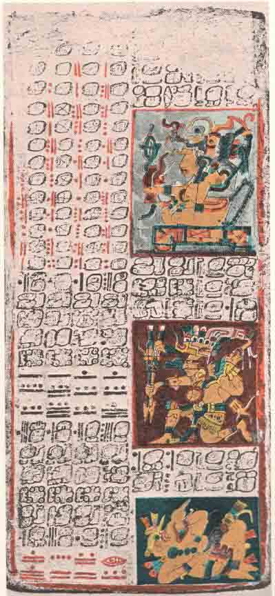 Part of the Venus table in the Dresden Codex. (Public Domain)