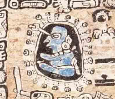 Representation of a Maya astronomer from page 34 of the Madrid Codex. (Public Domain)