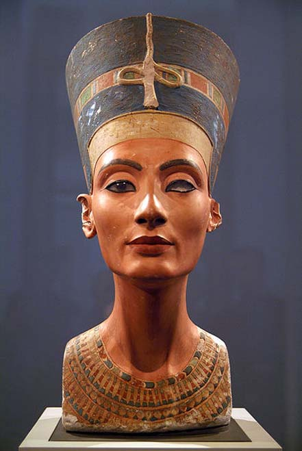 Iconic Nefertiti bust in Berlin.