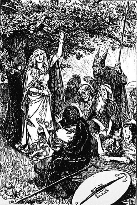 Idunn and the Apples of Youth. (Public Domain)