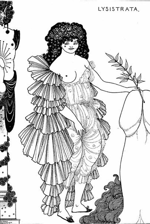 Illustration of Lysistrata (1896).