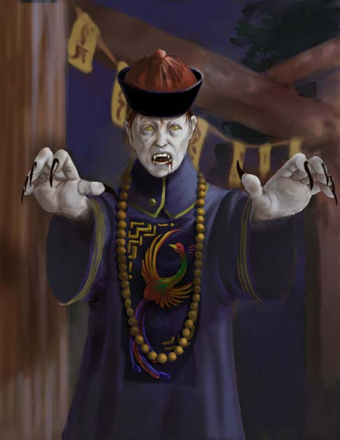 Illustration of a Jiang Shi (Alisha Costanzo)