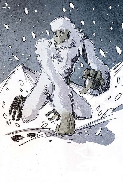 Illustration of a Yeti by Philippe Semeria