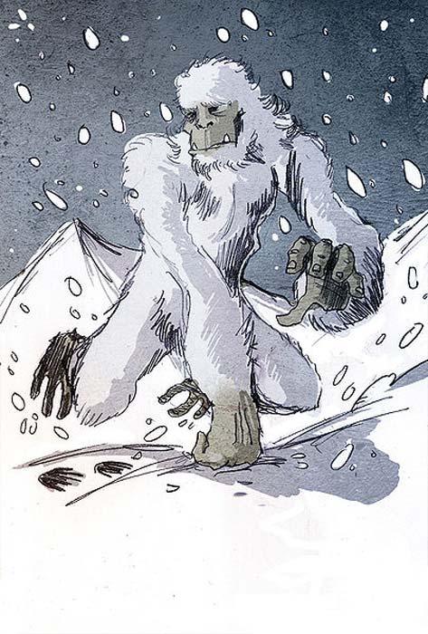 Illustration of a Yeti by Philippe Semeria