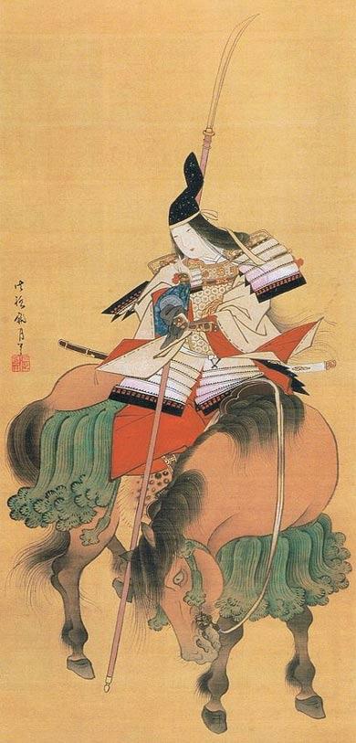 Image on Silk of Tomoe Gozen, Edo Era, Tokyo National Museum.