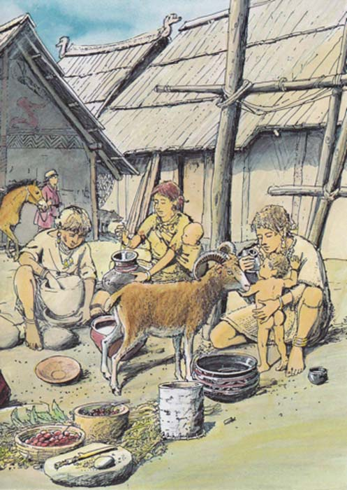 Image shows Bronze age use of baby feeding vessel. (Christian Bisig/Archäologie der Schweiz)