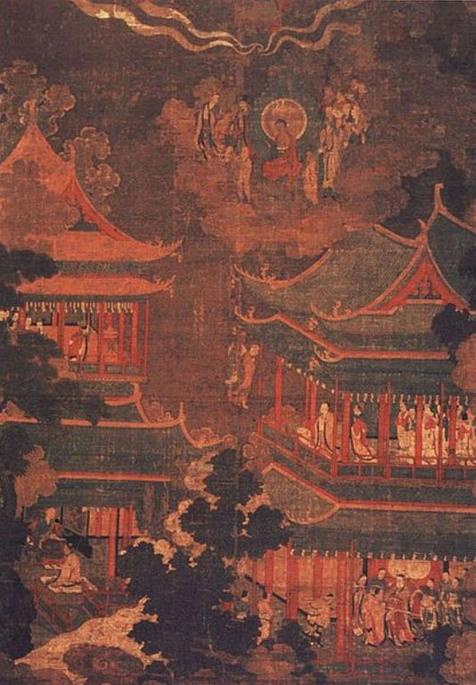 A Koryo/Goryo painting depicting the Imperial Palace.