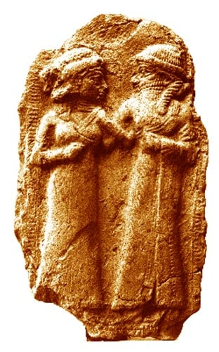 The marriage of Inanna and Dumuzid.