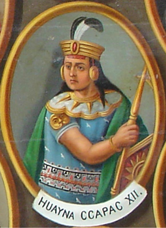 Illustration of Inca Emperor Huayna Capac.