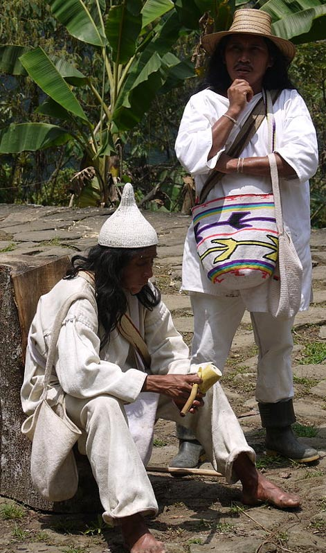 Indigenous Koguis Shaman at Ciudad Perdida. It is said the Koguis are the modern day keepers of the Tayrona Civilization. 2014, by Uhkabu